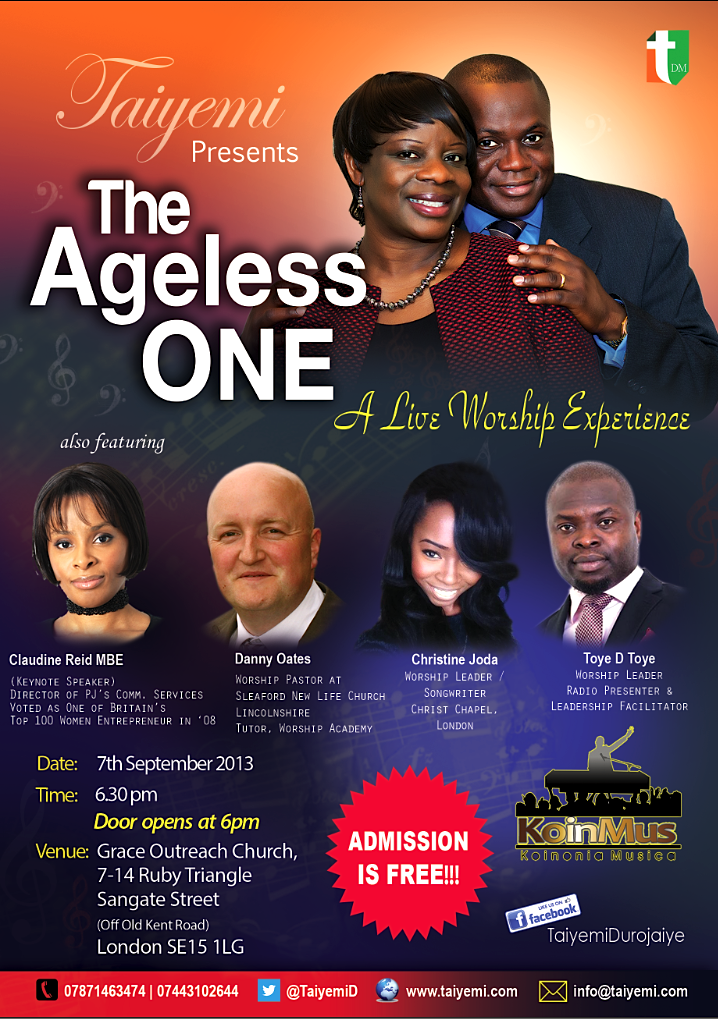 Ageless One Flyer_7 Sept Taiyemi